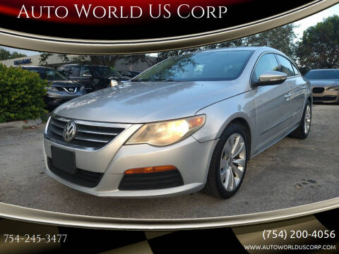 2011 Volkswagen CC for sale at Auto World US Corp in Plantation FL