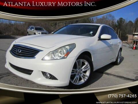 2013 Infiniti G37 Sedan for sale at Atlanta Luxury Motors Inc. in Buford GA