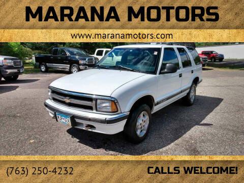 1996 Chevrolet Blazer for sale at Marana Motors in Princeton MN