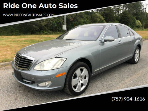 2007 Mercedes-Benz S-Class for sale at Ride One Auto Sales in Norfolk VA