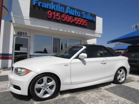2010 BMW 1 Series for sale at Franklin Auto Sales in El Paso TX