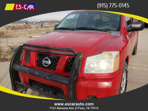2007 Nissan Titan for sale at Escar Auto in El Paso TX