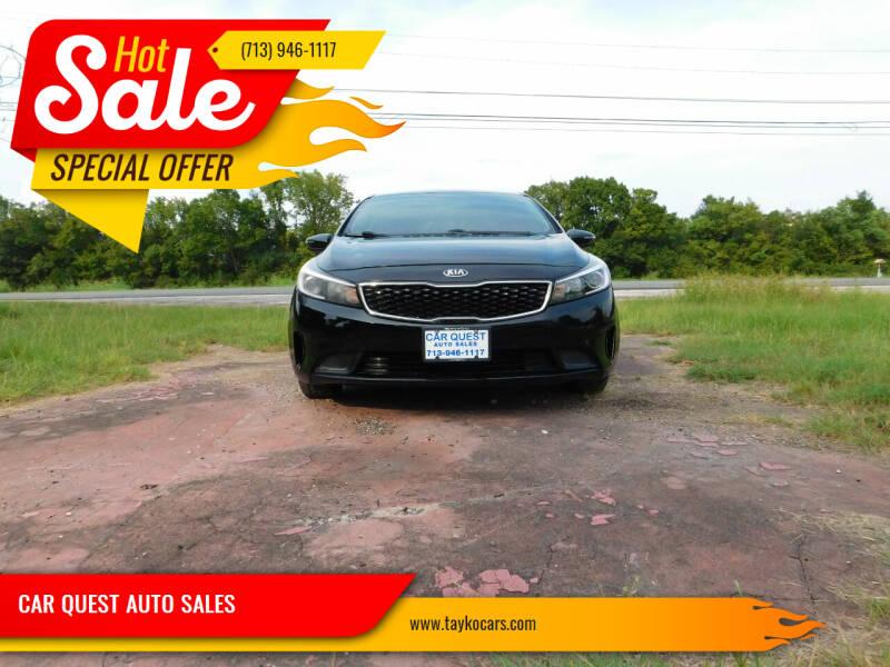 2017 Kia Forte5 for sale at CAR QUEST AUTO SALES in Houston TX