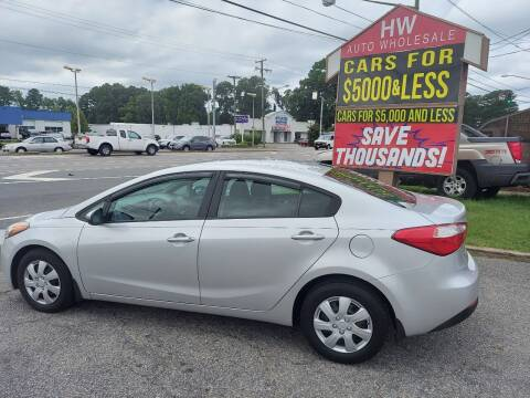 2015 Kia Forte for sale at HW Auto Wholesale in Norfolk VA