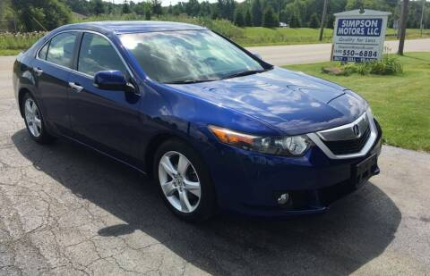 2009 Acura TSX for sale at SIMPSON MOTORS in Youngstown OH