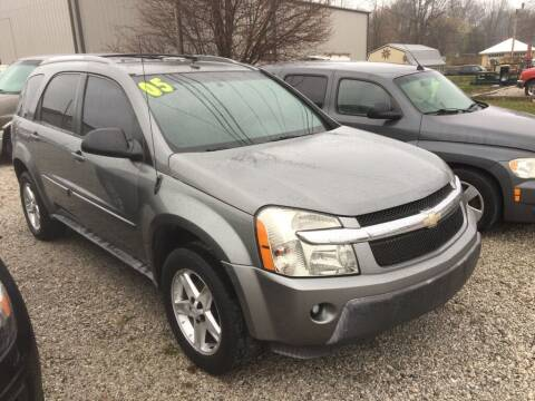 2005 Chevrolet Equinox for sale at G LONG'S AUTO EXCHANGE in Brazil IN