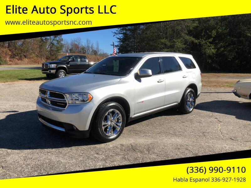 2011 Dodge Durango for sale at Elite Auto Sports LLC in Wilkesboro NC