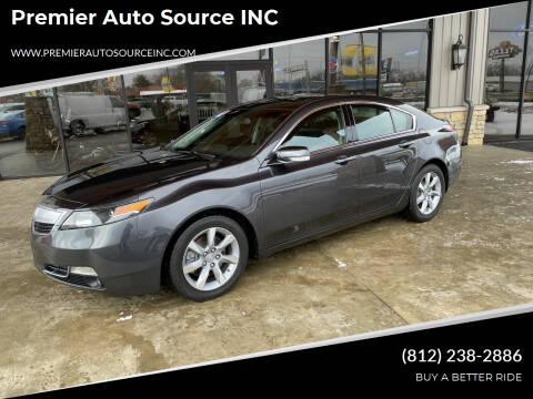 2012 Acura TL for sale at Premier Auto Source INC in Terre Haute IN