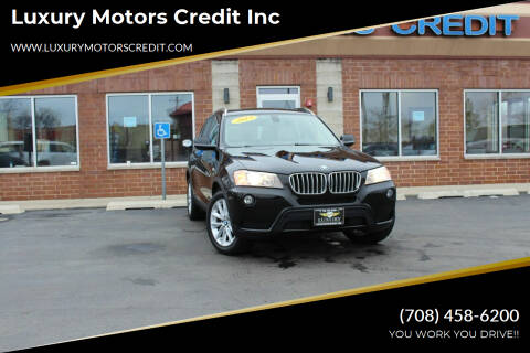 2013 BMW X3 for sale at Luxury Motors Credit Inc in Bridgeview IL