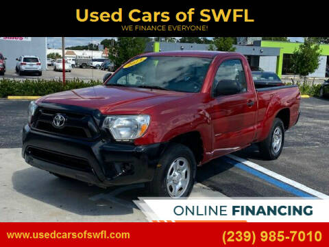 2013 Toyota Tacoma for sale at Used Cars of SWFL in Fort Myers FL