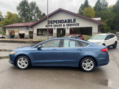 2018 Ford Fusion for sale at Dependable Auto Sales and Service in Binghamton NY