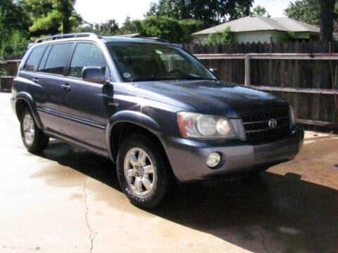 2003 Toyota Highlander for sale at CANTWEIGHT CLASSICS in Maysville OK