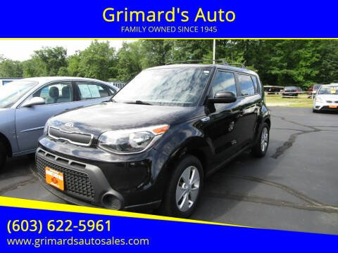 2016 Kia Soul for sale at Grimard's Auto in Hooksett NH