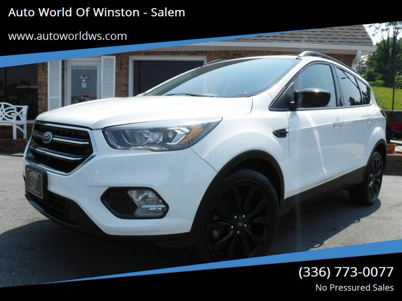 2018 Ford Escape for sale at Auto World Of Winston - Salem in Winston Salem NC