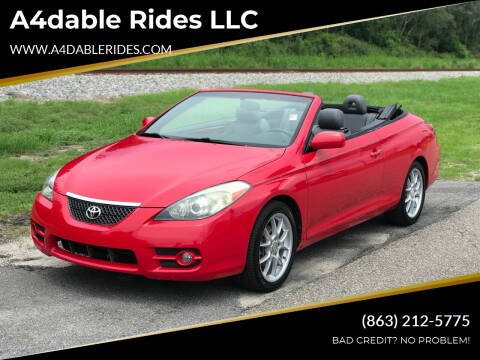 2008 Toyota Camry Solara for sale at A4dable Rides LLC in Haines City FL