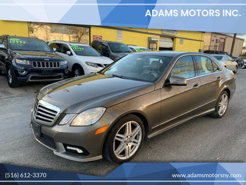 2011 Mercedes-Benz E-Class for sale at Adams Motors INC. in Inwood NY