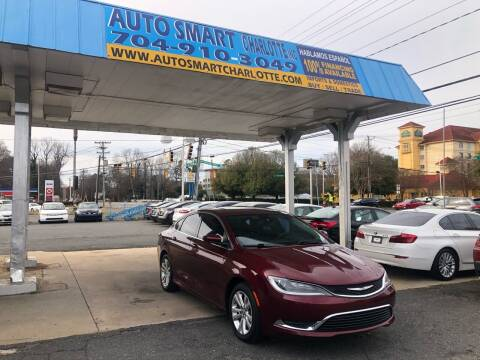 2016 Chrysler 200 for sale at Auto Smart Charlotte in Charlotte NC
