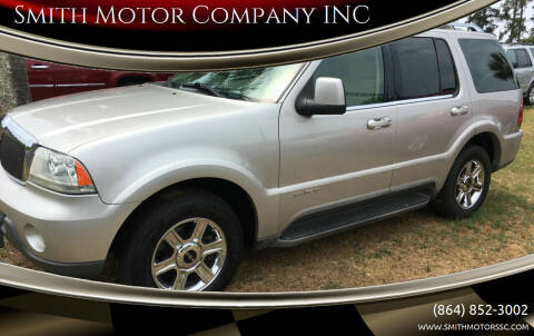 2004 Lincoln Aviator for sale at Smith Motor Company INC in Mc Cormick SC