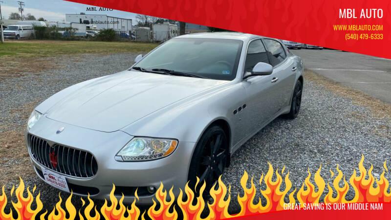 2009 Maserati Quattroporte for sale at MBL Auto in Fredericksburg VA