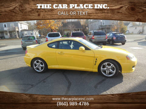 2006 Hyundai Tiburon for sale at THE CAR PLACE INC. in Somersville CT
