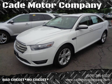 2013 Ford Taurus for sale at Cade Motor Company in Lawrence Township NJ
