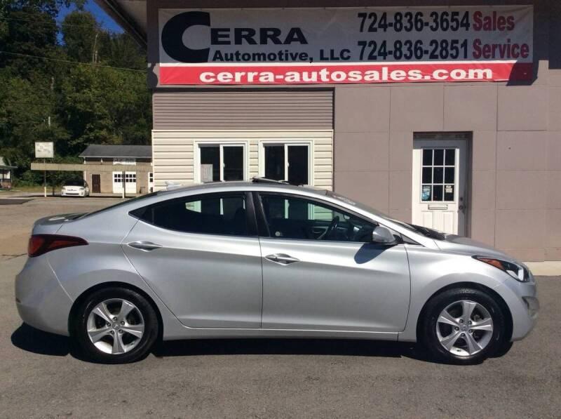 2016 Hyundai Elantra for sale at Cerra Automotive LLC in Greensburg PA