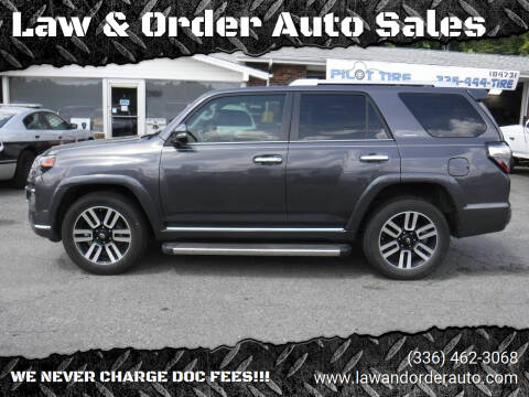2016 Toyota 4Runner for sale at Law & Order Auto Sales in Pilot Mountain NC