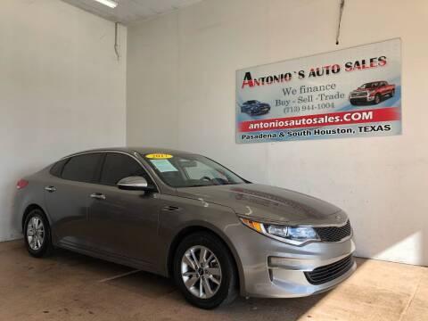 2017 Kia Optima for sale at Antonio's Auto Sales - Antonio`s  3001 in Pasadena TX