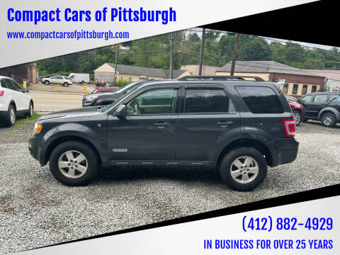2008 Ford Escape for sale at Compact Cars of Pittsburgh in Pittsburgh PA