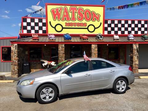 2006 Pontiac G6 for sale at Watson Motors in Poteau OK