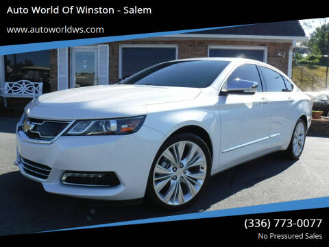 2016 Chevrolet Impala for sale at Auto World Of Winston - Salem in Winston Salem NC