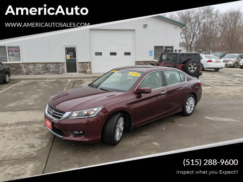 2015 Honda Accord for sale at AmericAuto in Des Moines IA