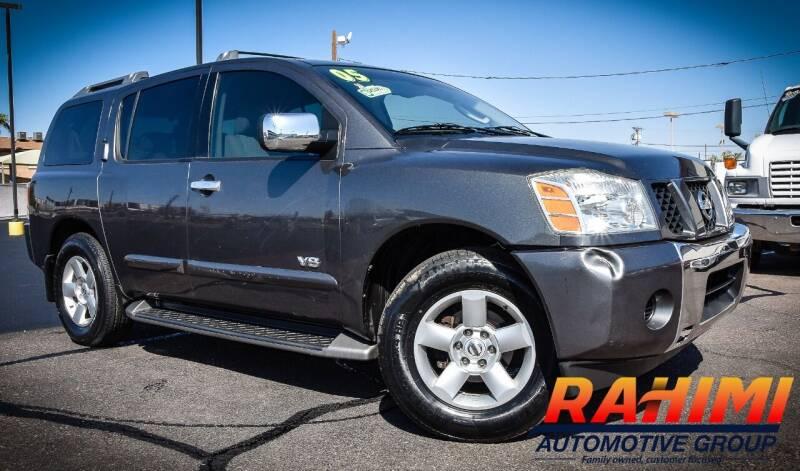2005 Nissan Armada for sale at Rahimi Automotive Group in Yuma AZ