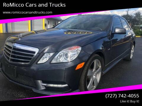 2012 Mercedes-Benz E-Class for sale at RoMicco Cars and Trucks in Tampa FL