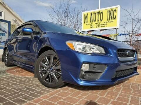 2015 Subaru WRX for sale at M AUTO, INC in Millcreek UT