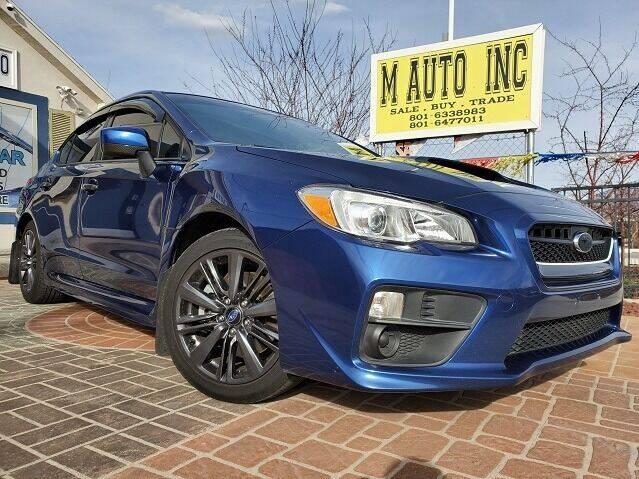 2015 Subaru WRX for sale at M AUTO, INC in Millcreek UT