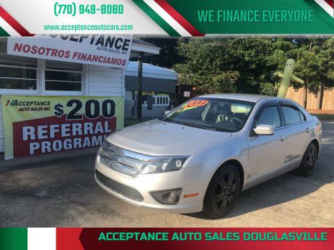2010 Ford Fusion for sale at Acceptance Auto Sales Douglasville in Douglasville GA