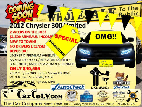 2012 Chrysler 300 for sale at The Car Company in Las Vegas NV