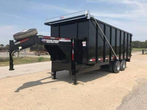 2021 TEXAS PRIDE 8x22x8 Dump Trailer 26k GVWR for sale at Park and Sell - Trailers in Conroe TX