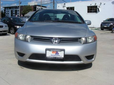 2007 Honda Civic for sale at EURO MOTORS AUTO DEALER INC in Champaign IL