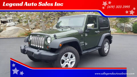 2009 Jeep Wrangler for sale at Legend Auto Sales Inc in Lemon Grove CA
