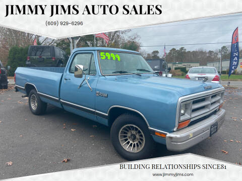 1988 Dodge RAM 100 for sale at Jimmy Jims Auto Sales in Tabernacle NJ