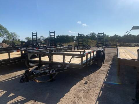 """2021 LION  - Equipment 83"""" X 18' -  for sale at LJD Sales in Lampasas TX"""