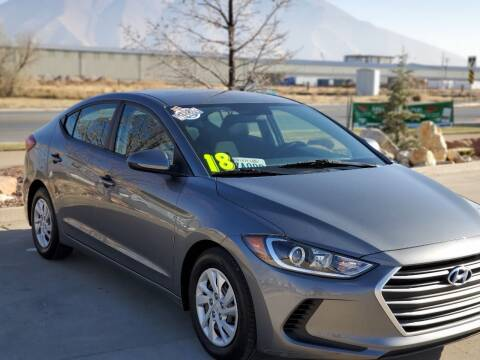 2018 Hyundai Elantra for sale at FRESH TREAD AUTO LLC in Springville UT