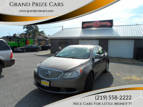 2011 Buick LaCrosse for sale at Grand Prize Cars in Cedar Lake IN