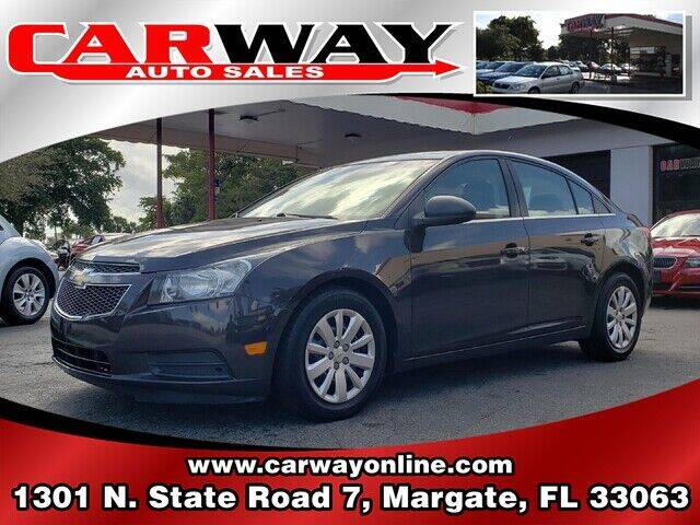 2011 Chevrolet Cruze for sale at CARWAY Auto Sales in Margate FL