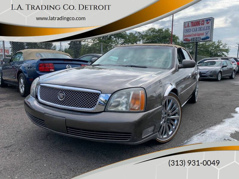 2002 Cadillac DeVille for sale at L.A. Trading Co. Detroit in Detroit MI