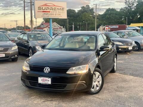 2012 Volkswagen Jetta for sale at Supreme Auto Sales in Chesapeake VA