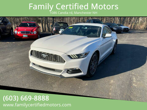 2017 Ford Mustang for sale at Family Certified Motors in Manchester NH