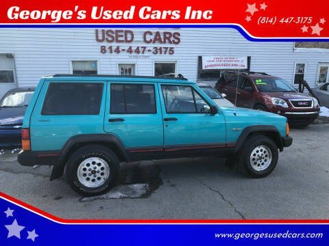 1996 Jeep Cherokee for sale at George's Used Cars Inc in Orbisonia PA